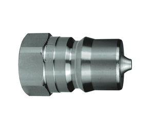 "D-H4F4-SV-8 Dixon Steel H-Series Quick Disconnect 1/2"" ISO-B Food Grade Hydraulic Nipple - 1/2""-14 Female NPTF"