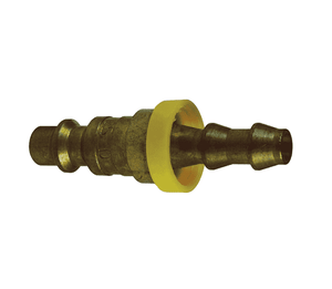 "D2B2-B Dixon Brass DF-Series Quick Disconnect 1/4"" Industrial Interchange Pneumatic Nipple - Push-Loc Barb - 1/4"" Hose ID"