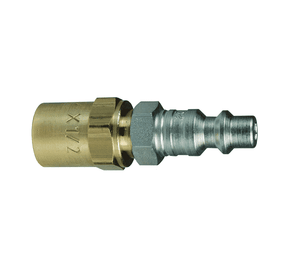 "D2H2 Dixon Steel DF-Series Quick Disconnect 1/4"" Industrial Interchange Pneumatic Nipple - Reusable Barb - 1/4"" Hose ID x 5/8"" OD"