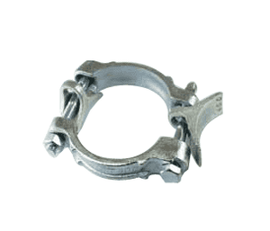 "DB076 Jason Industrial Malleable Iron Double Bolt Hose Clamp - Hose OD Range: 2-3/8"" to 3-7/16"""