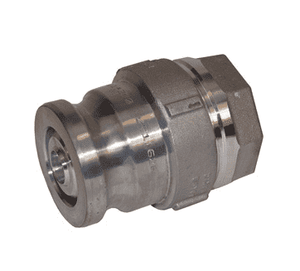 "DBA63-200 Dixon Aluminum Dry Break Cam and Groove Dry Disconnect 2-1/2"" Adapter x 2"" Female NPT with PTFE Encapsulated Silicone Seal"