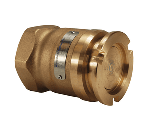 "DDA150BR Dixon 70mm Brass/Gunmetal Dry Disconnect Tank Unit Adapter x 1-1/2"" Female NPT with Viton Seals"