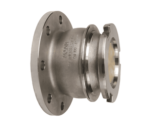 "DDA400GMFL Dixon 164mm Gunmetal Dry Disconnect Tank Unit Adapter x 4"" 150# ASA Flange with Viton Seals"