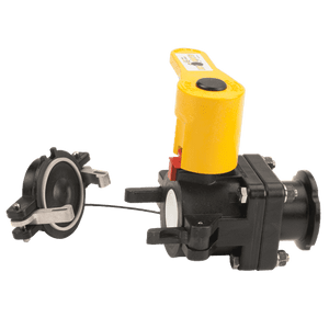 "DM200ACF Banjo Manifold Dry Disconnect Valve - 2"" Flanged Male Dry-Mate w/ FKM (viton type) Seals - Opening Thru Ball: 1-1/2"" - 100 PSI"