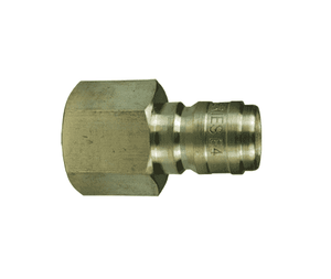 "E6F6-B Dixon Brass E-Series Quick Disconnect 3/4"" Straight-Through Interchange Hydraulic Nipple - 3/4""-14 Female NPTF"