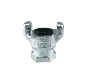 "FE025 Jason Industrial Iron Universal Air Coupling - 2 Lug - 1/4"" Female NPT End"