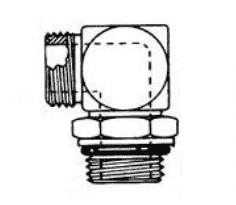 FF1868T0405S 90 Degree ORS / SAE O-Ring Boss (adj.) Adapter - Steel