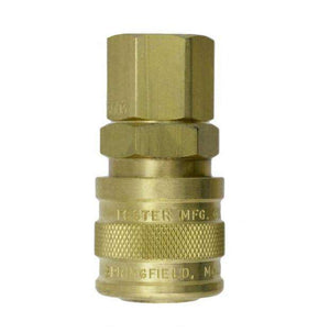 "3003W ZSi-Foster Quick Disconnect 1-Way Manual Socket - 1/4"" FPT - Brass/SS, For Water, Buna-N Seal"