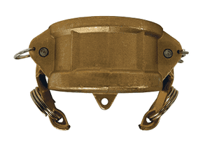 "G125-DC-BR Dixon 1-1/4"" ASTMC38000 Forged Brass Global Type DC Dust Cap"