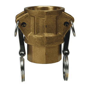 "G100-D-BR Dixon 1"" ASTMC38000 Forged Brass Global Type D Coupler"
