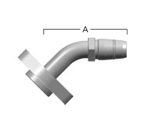 GA24127-24 Eaton Aeroquip FC800 EverCool™ Reusable Fitting - BOCK Hose Nipple 45˚ Tube Elbow