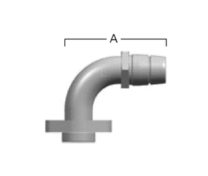 GA25128-24 Eaton Aeroquip FC800 EverCool™ Reusable Fitting - BOCK Hose Nipple 90˚ Tube Elbow