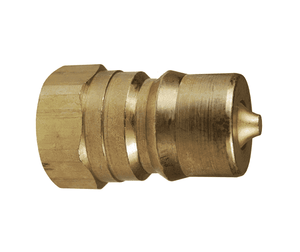"H2F2-B Dixon Brass H-Series Quick Disconnect 1/4"" ISO-B Interchange Hydraulic Nipple - 1/4""-18 Female NPTF"