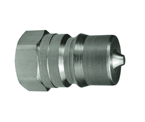 "H4F4-S Dixon 303 Stainless Steel H-Series Quick Disconnect 1/2"" ISO-B Interchange Hydraulic Nipple - 1/2""-14 Female NPTF"