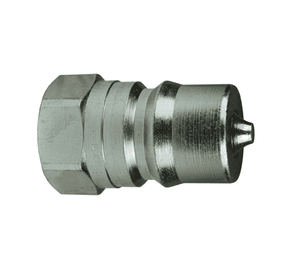 "H2OF3 Dixon Steel H-Series Quick Disconnect 1/4"" ISO-B Interchange Hydraulic Nipple - 9/16""-18 Female ORB"
