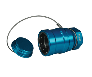 "HFN-P3 Dixon 1"" Anodized Aluminum Flomax High Flow 1"" Female NPT Series Nozzle with Plug - Teal"