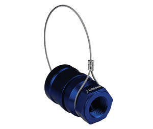 "HFN-P5 Dixon 1"" Anodized Aluminum Flomax High Flow 1"" Female NPT Series Nozzle with Plug - Navy"
