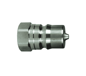"HS8F8-S Dixon 303 Stainless Steel HS-Series Quick Disconnect 1"" ISO-B Steam Interchange Hydraulic Nipple - 1""-11-1/2 Female NPTF"