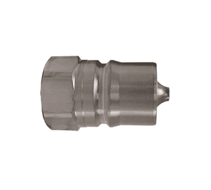 "HS3F3 Dixon Steel HS-Series Quick Disconnect 3/8"" ISO-B Steam Interchange Hydraulic Nipple - 3/8""-18 Female NPTF"