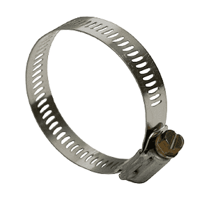 "HSS16 Dixon Valve Style HSS Worm Gear Clamps - SAE 300 Stainless - 1/2"" Band Width - Hose OD Range: from 52/64"" to 1-32/64"" (Box of 10)"