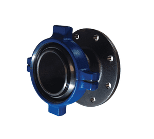 "HUM206400FLG Dixon 4"" One-Piece Flange Adapter - Male Hammer Union x 150# Flange (includes nut, Buna-N O-Ring) - 5-5/32"" Overall Length (with Nut)"