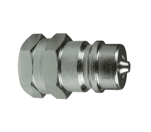 "K4F4 Dixon Steel K-Series Quick Disconnect 1/2"" ISO-A Interchange Hydraulic Nipple - 1/2""-14 Female NPTF"