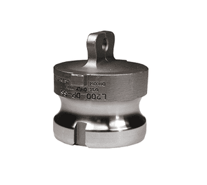 "L150-DP-SS Dixon 1-1/2"" 316 Stainless Steel Vent-Lock Type DP Cam and Groove Coupling - Dust Plug"