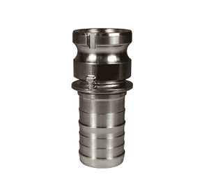 "L150-E-SS Dixon 1-1/2"" 316 Stainless Steel Vent-Lock Type E Cam and Groove Coupling - Adapter x Hose Shank"