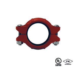 "L02 Dixon Ductile Iron Lightweight Flexible Coupling with EPDM Gasket - Series L, Style 10 - 2"" Nominal Size - 2.375"" Pipe OD"