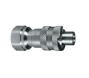 "N4F6-S Dixon 303 Stainless Steel N-Series Quick Disconnect 1/2"" Bowes Interchange Pneumatic Nipple - 3/4""-14 Female NPTF"