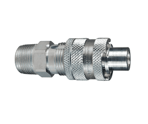 "N4BM4-LS Dixon Steel N-Series Quick Disconnect 1/2"" Bowes Interchange Safety-Lock Pneumatic Nipple - 1/2""-14 Male BSPT"