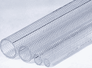"Versilon™ NT-80 ADT02301 1"" ID x 1.293"" OD x .146"" Wall 100' Package Length - Flexible Reinforced PVC Tubing"