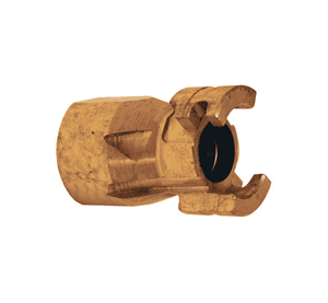 "P4F6-B Dixon Brass P-Series Quick Disconnect 1/2"" Thor Interchange Pneumatic Nipple - 3/4""-14 Female NPTF"