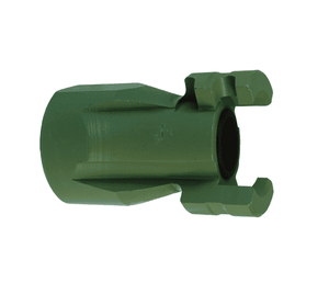 "P4F6-9 Dixon Steel/Tefcoat P-Series Quick Disconnect 1/2"" Thor Interchange Pneumatic Nipple - 3/4""-14 Female NPTF"