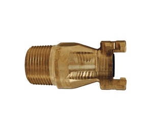 "P4M6-B Dixon Brass P-Series Quick Disconnect 1/2"" Thor Interchange Pneumatic Nipple - 3/4""-14 NPTF"