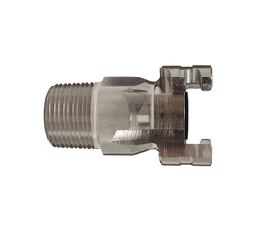 "P4M6-S Dixon 303 Stainless Steel P-Series Quick Disconnect 1/2"" Thor Interchange Pneumatic Nipple - 3/4""-14 NPTF"
