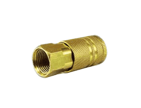 "QCF06B Jason Industrial Brass Air Coupler - Industrial Quick Connect - Quick Connect x Female 3/8"" NPT"