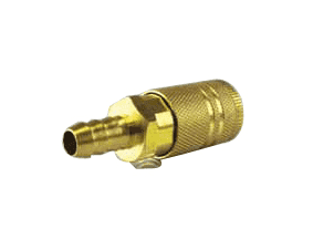 "QCH06B Jason Industrial Brass Air Coupler - Industrial Quick Connect - Quick Connect x Hose End 3/8"" (Barbed)"
