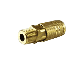 "QCM06B Jason Industrial Brass Air Coupler - Industrial Quick Connect - Quick Connect x Male 3/8"" NPT"