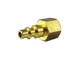 "QPF06B Jason Industrial Brass Air Coupler - Industrial Quick Connect - Plug x Female 3/8"" NPT"