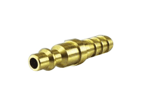 "QPH06B Jason Industrial Brass Air Coupler - Industrial Quick Connect - Plug x Hose End 3/8"" (Barbed)"