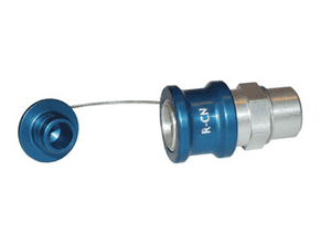 "R-CN-P Dixon 1/2"" NPT Anodized Aluminum Flomax R Series Connector - Coolant Nozzle with Plug"