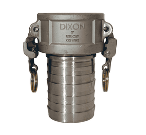 "RC100EZCR Dixon 1"" 316 Stainless Steel EZ Boss-Lock Type C Coupler"