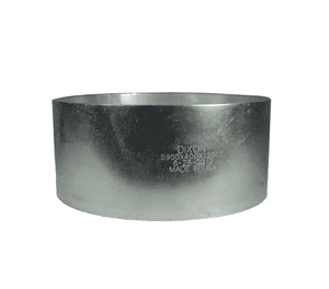 "S925X400X120CS Dixon Carbon Steel King Crimp Style Sleeve - 8"" Hose ID - 9.25"" Sleeve ID - Length: 4"""