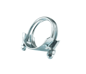 "SDB200CW Jason Industrial Double Bolt Hose Clamps For Corrugated Hose - Clockwise - 2"" Hose ID"