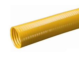 "SLV-VAP4X3 Kuriyama Tigerflex SLV-VAP Series, Yellow, Non-Food Grade Banding Sleeve - Flexible PVC - 4"" - 3ft"