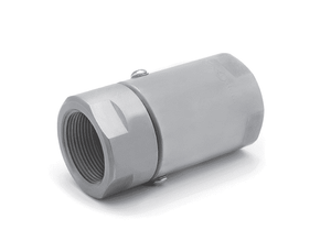 "SS16FP100XFP100-440-AL (1046-440-AL)  Super Swivel Straight 1-11-1/2 Female Pipe NPTF x 1-11-1/2 Female Pipe NPTF - 0.906"" Through Hole - 440c Stainless Steel - AFLAS Seal"