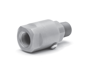 "SS32MP200XFP200-440-V (19015)  Super Swivel Straight 2-11-1/2 Male Pipe NPTF x 2-11-1/2 Female Pipe NPTF - 1.781"" Through Hole - 440c Stainless Steel - Viton Seal"
