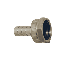 "SSCF75 Dixon 303 Stainless Steel GHT Thread Fitting w/ Hex Nut - Machined Female w/ Swivel Nut - 5/8"" Hose Size"