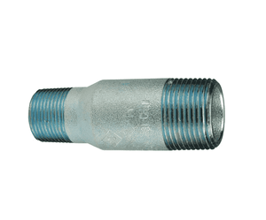 "SW80-200150 Dixon Zinc Plated Schedule 80 Swage Nipple - 2"" Male NPT x 1-1/2"" Male NPT - 6.5"" Length"
